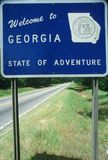 Welcome to Georgia Sign Stock Images