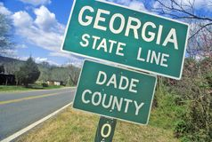 Welcome to Georgia Sign Royalty Free Stock Image