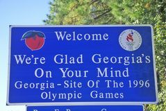 Welcome to Georgia Sign Royalty Free Stock Photography