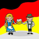 Welcome to Germany people Stock Photos
