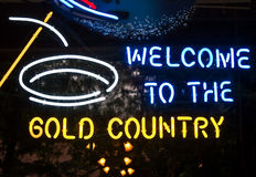 Welcome to Gold Country Stock Image