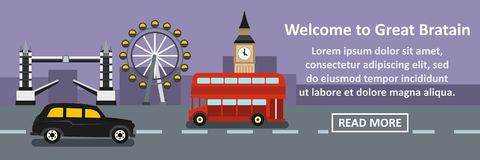Welcome to great britain banner horizontal concept Royalty Free Stock Photography