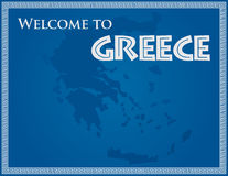 Welcome To Greece vector illustration
