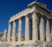 Welcome to Greece. Picture of the old building in Athens, Greece Stock Photography