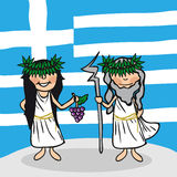 Welcome to Greece people Stock Image
