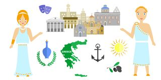 Welcome to greece Stock Photography