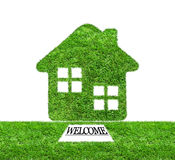 Welcome to green grass home Royalty Free Stock Photography