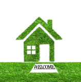 Welcome to green grass home Stock Images