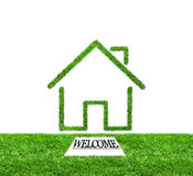 Welcome to green grass home Royalty Free Stock Photo