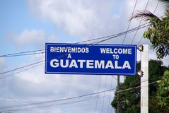 Welcome to Guatemala Royalty Free Stock Photos