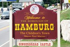 Welcome to Hamburg, NJ Royalty Free Stock Photo
