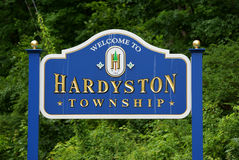 Welcome to Hardyston, NJ Stock Images