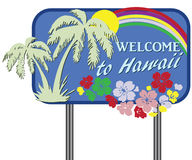 Welcome to Hawaii Royalty Free Stock Image