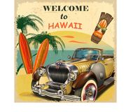 Welcome to Hawaii. Retro poster Royalty Free Stock Images