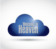 Welcome to heaven cloud sign illustration design Stock Photo