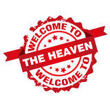 Welcome to the heaven stamp Stock Image