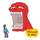 Welcome to hell message Royalty Free Stock Image