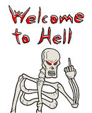 Welcome to hell message Stock Photo