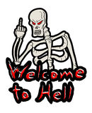 Welcome to hell message Stock Image