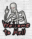 Welcome to hell message Royalty Free Stock Images