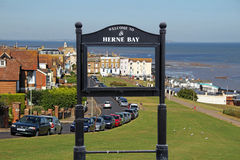Welcome to herne bay scene sign royalty free stock photos