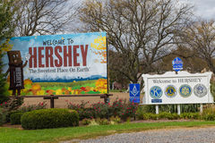 Welcome to Hershey Pennsylvania Signs Royalty Free Stock Image
