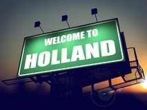 Welcome to Holland Billboard at Sunrise. Stock Image