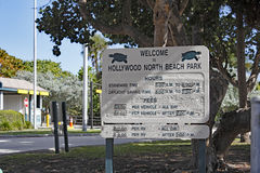 Welcome to Hollywood North Beach Park Sign Royalty Free Stock Images