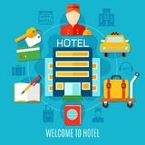 Welcome To Hotel Design Concept Stock Image