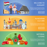 Welcome To Hungary Banners Royalty Free Stock Images