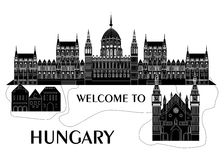 Welcome to hungary Royalty Free Stock Images