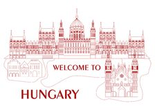 Welcome to hungary Royalty Free Stock Photos