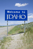 Welcome to Idaho. State Sign Stock Images