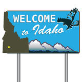 Welcome to Idaho Royalty Free Stock Photo