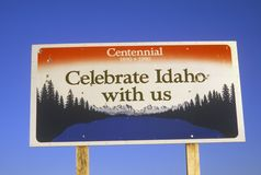 Welcome to Idaho Sign Royalty Free Stock Photography