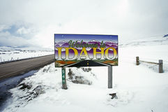 Welcome to Idaho Sign Royalty Free Stock Images
