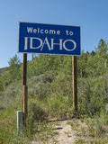 Welcome to Idaho sign Stock Photography