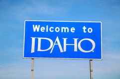 Welcome to Idaho sign Stock Images