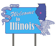 Welcome to Illinois. Symbolic symbol Welcome to the US state of Illinois. Vector illustration stock illustration