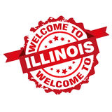 Welcome to Illinois tamp Royalty Free Stock Photos