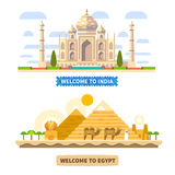 Welcome to India and Egypt Stock Images
