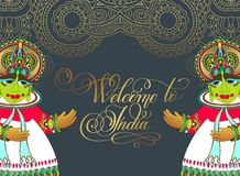 Welcome to India - hand lettering inscription Royalty Free Stock Image