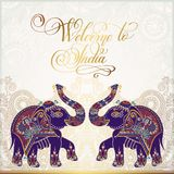 Welcome to India travel card poster Royalty Free Stock Photography