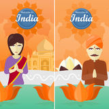 Welcome to India Travel Poster Stock Photos
