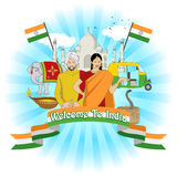 Welcome To India Stock Photos