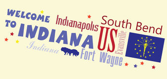 Welcome to Indiana Abstract banner Royalty Free Stock Photo