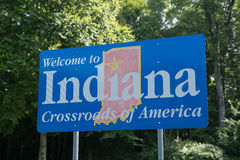 Welcome to Indiana sign Royalty Free Stock Image
