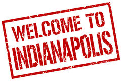 Welcome to Indianapolis stamp Stock Image