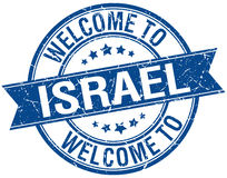Welcome to Israel blue round stamp Royalty Free Stock Photo