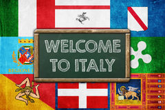 WELCOME TO ITALY Royalty Free Stock Image
